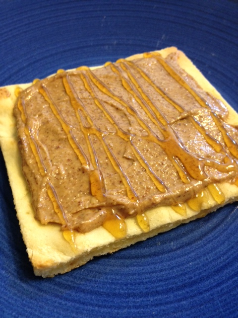 Paleo Almond Butter and Honey Flatbread Snack