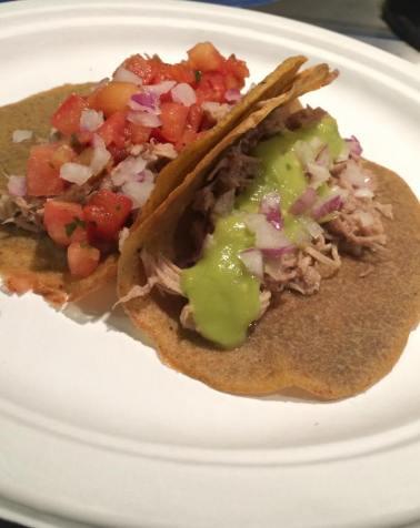 Pulled Pork Tacos with Pico De Gallo and Avocado Salsa